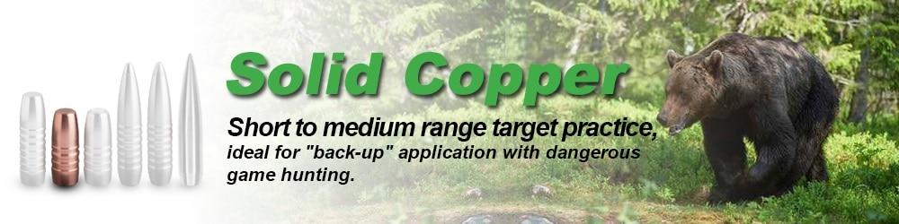 solid copper reloading bullets
