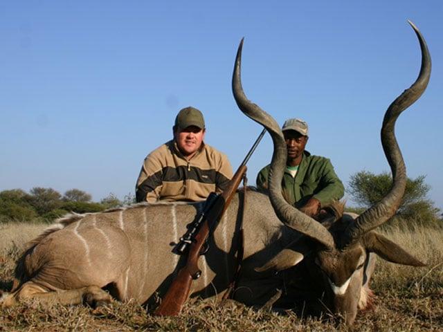 Kudu, 308 Win, 180gr BushMaster, 160 yards, broadside shot.
