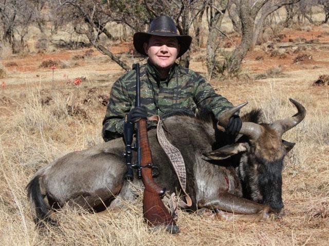 Blue Wildebeest, 375 Ruger, 250gr PlainsMaster bullet, 185 yards, broadside shot.